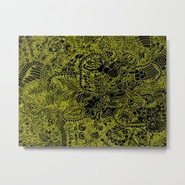 Black and Yellow Underbrush Metal Print