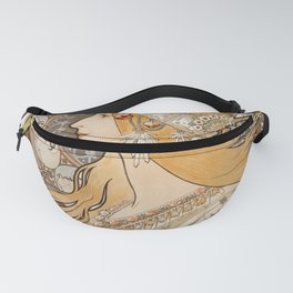 Zodiaque or La Plume (ca 1896-1897) by Alphonse Maria Mucha Fanny Pack
