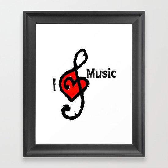 I love music Framed Art Print