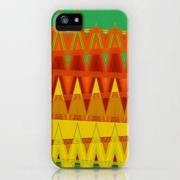 Indien Triangle Pattern Art iPhone Case