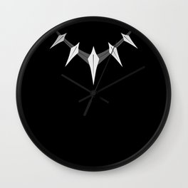 Black panther necklace Wall Clock