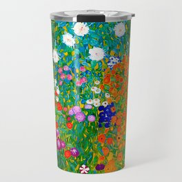 Gustav Klimt - Flower Garden Travel Mug
