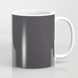 Black & Grey Simulated Carbon Fiber Coffee Mug