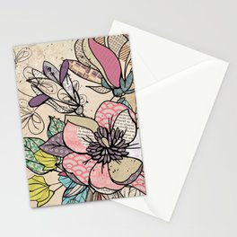 Paper Flowers #5 Stationery Cards