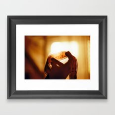 Film and Light Framed Art Print