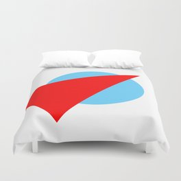 Compass: Blue and Red Duvet Cover