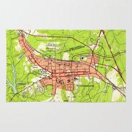 Vintage Map of Williamsburg Virginia (1952) Rug