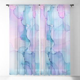 Alcohol Ink - Pastel Clouds 1.2 Sheer Curtain