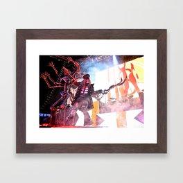 Zombie Staredown Framed Art Print