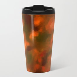 Red, Orange Floral Abstract Travel Mug