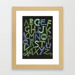 Monster Alphabet. Framed Art Print
