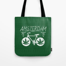 Amsterdam hemp bike, for marijuana lovers Tote Bag