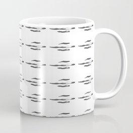 Japanese ink pattern 1 black and white Coffee Mug