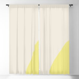 color field - yellow and cream Blackout Curtain