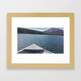 Fishing on Lake Mary Framed Art Print