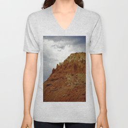 Buttes of New Mexico - On the Road to Santa Fe, No. 7 Unisex V-Neck