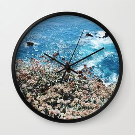 Flowers on a Cliff Wall Clock