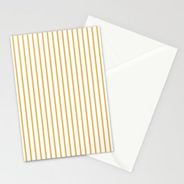 Marigold Yellow Pinstripe on White Stationery Cards
