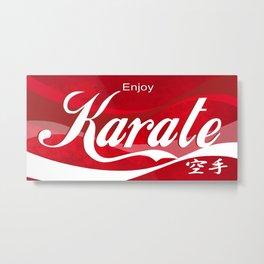 Enjoy Karate Metal Print