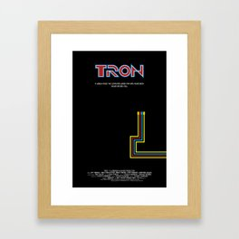 Tron 1982 - minimalist, alternative poster, scy-fi poster, Jeff Bridges, Bruce B Framed Art Print