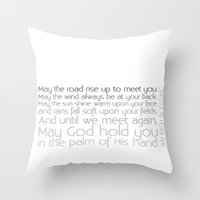 irish Throw Pillows featuring Irish Blessing by this is team kismet