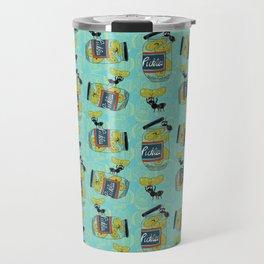 The Pickle Thief (Blue) Travel Mug
