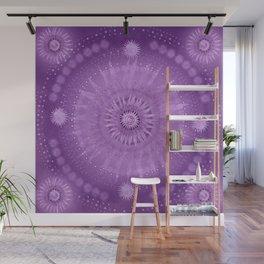 """Purple & Mallow Vault Mandala"" (Silver stars) Wall Mural"