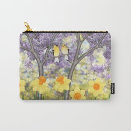 goldfinches, lilacs, & daffodils Carry-All Pouch