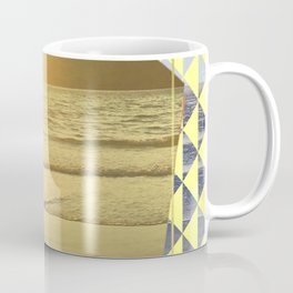 Port Erin - yellow hexagon Coffee Mug