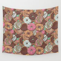 donuts Wall Tapestries featuring Donuts by Mario Zucca