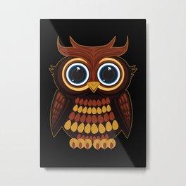 Friendly Owl Metal Print