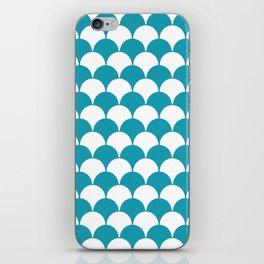 Fan Pattern 321 Turquoise iPhone Skin