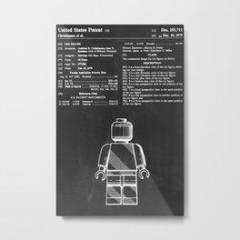 Lego Man original Lego patent Metal Print