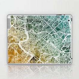 Rome Italy City Map Laptop & iPad Skin