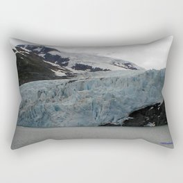 TEXTURES -- A Face of Portage Glacier Rectangular Pillow