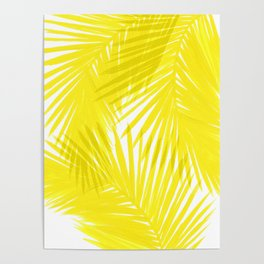 Palms Yellow Poster