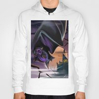 bat Hoodies featuring Bat by Brandon Heffron