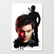 Monster Madness: Dexter Morgan  Canvas Print