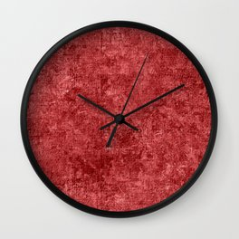 Cranberry Oil Painting Color Accent Wall Clock