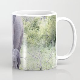 elephant baby and mother Coffee Mug