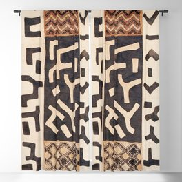 Kuba Congo Central African Wraparound Skirt Print 2 Blackout Curtain