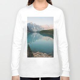 Pastel Sunrise over Moraine Lake Long Sleeve T-shirt