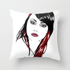 minimal girl 3 Throw Pillow