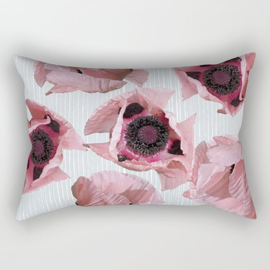 Perfection in a poppy Rectangular Pillow