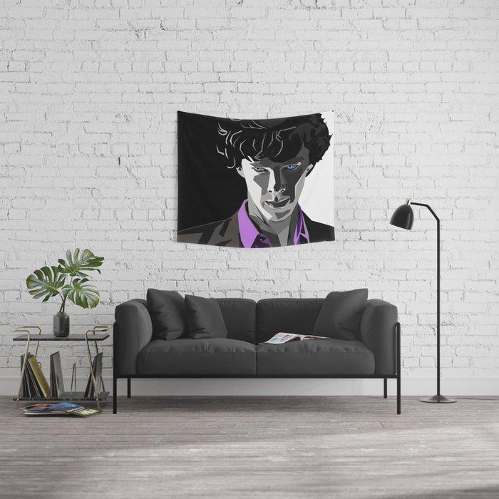 Sherlock Holmes Portrait Wall Tapestry
