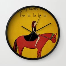 Red Pony Wall Clock