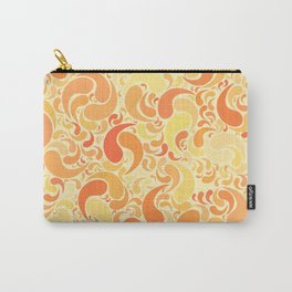 Sunset dancing drops in the air in burnt orange colors Carry-All Pouch