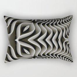 Exo-skelton 3D Optical Illusion Rectangular Pillow