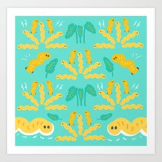 worms! worms! worms! Art Print