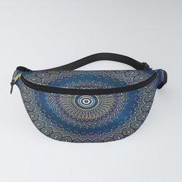 Blue Detailed Mandala Esoteric Pattern Fanny Pack